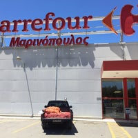 Photo taken at Carrefour Μαρινόπουλος by Andreas H. on 6/3/2016