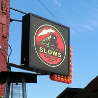 Photo taken at Slows Bar-B-Q by Tiantha F. on 6/14/2013