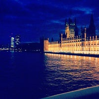 Photo taken at Westminster Bridge by Kristina P. on 2/16/2013