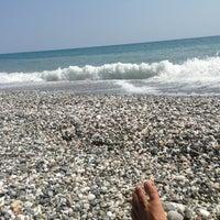Photo taken at Velika Beach by George Z. on 8/18/2013