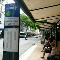 Photo taken at Adelaide Street - Bus Stop 40 by Daniel W. on 4/15/2017