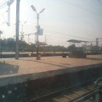Photo taken at Balharshah Railway Station by Ayush K. on 2/7/2014