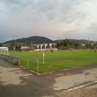 Photo taken at Sportplatz Weissenstein by Roland S. on 8/8/2013