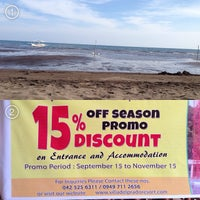 Photo taken at Villa del Prado Pool and Beach Resort by Jeff J. on 10/31/2013