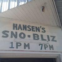 Photo taken at Hansen's Sno-Bliz by Meg H. on 4/14/2013