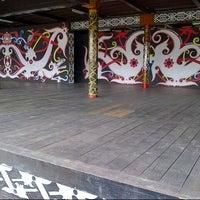Photo taken at Rumah Adat Betang by Lutfi A. on 5/22/2013