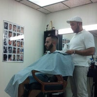 Photo taken at Ron's Barber Shop by Michael Y. on 2/3/2013