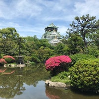 Photo taken at 大阪城日本庭園 by とっしー。 &. on 5/20/2018