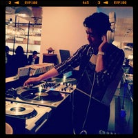 Photo taken at cafe 104.5 by Hiromi H. on 5/23/2013
