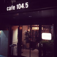 Photo taken at cafe 104.5 by Hiromi H. on 5/4/2013