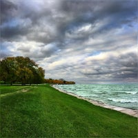 Photo taken at Lawrence Avenue Beach by Ahsan K. on 10/26/2016