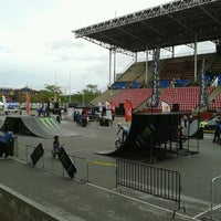 Photo taken at Hasely Crawford Stadium by Tevin M. on 5/26/2013