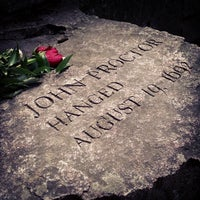 Photo taken at Salem Witch Trials Memorial by Rafael S. on 9/15/2013