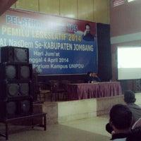 Photo taken at Universitas Pesantren Tinggi Darul 'Ulum (UNIPDU) by Ryan a. on 4/4/2014