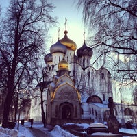 Photo taken at Novodevichy Convent by Kate S. on 3/10/2013