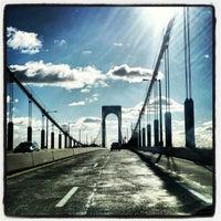 Photo taken at Bronx-Whitestone Bridge by Lukas K. on 12/30/2012