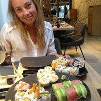 Photo taken at Sushi Shop by Geraldine L. on 9/11/2013