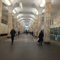 Photo taken at metro Avtozavodskaya by Андрей Щ. on 1/19/2013