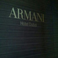 Photo taken at Armani Hotel Dubai by Mohammed A. on 11/20/2012