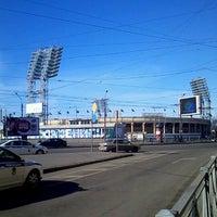 Photo taken at metro Sportivnaya by Asya N. on 4/7/2013