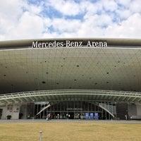 Photo taken at 梅赛德斯奔驰文化中心 Mercedes-Benz Arena by Karim on 10/14/2012