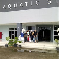 Photo taken at Jakabaring Aquatic Stadium by Sandi P. on 2/17/2013