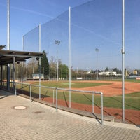 Photo taken at Mainz Athletics Ballpark by Tanja W. on 4/10/2016