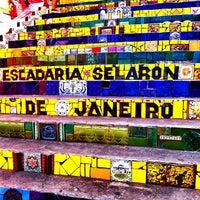 Photo taken at Escadaria de Selarón by Foto G. on 1/11/2013