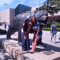 Photo taken at UCLA Bruin Plaza by Yasemin on 4/6/2013