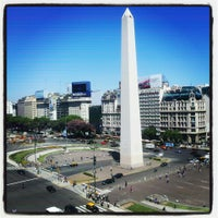 Photo taken at Obelisco - Plaza de la República by Matisha V. on 3/6/2013