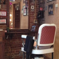 Photo taken at First Street Barber Shop by Mark J. on 1/6/2013