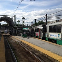 Photo taken at MBTA Riverside Station by Charlie P. on 7/24/2013