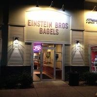 Photo taken at Einstein Bros Bagels by Charlie P. on 10/17/2012