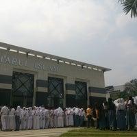 Photo taken at Masjid Agung Syi'arul Islam by addiehf k. on 3/15/2014