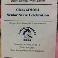 รูปภาพถ่ายที่ Clear Springs High School โดย Greg G. เมื่อ 1/26/2014