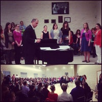 Photo taken at Hvidsten Hall of Music by Gia R. on 4/22/2013