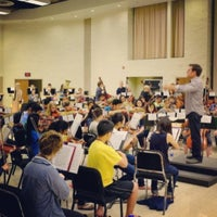 Photo taken at Hvidsten Hall of Music by Gia R. on 8/6/2013