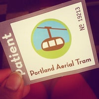 Photo taken at Portland Aerial Tram - Lower Terminal by Ally S. on 5/17/2013