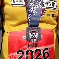 Photo taken at Rock N sole 1/2 Marathon by Mari L. on 6/14/2014