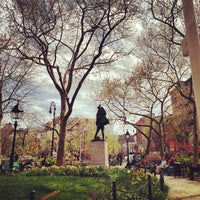 Photo taken at Abingdon Square Park by Noah F. on 4/19/2013