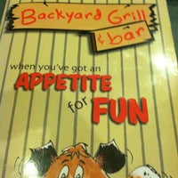 ... Photo Taken At Backyard Grill U0026amp;amp; Bar By Cat G. On 3 ...
