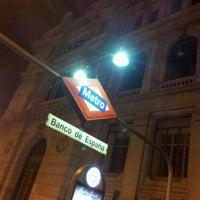Photo taken at Metro Banco de España by Jayguer V. on 2/2/2013