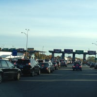 Photo taken at I-90 Weston Toll Plaza from / to I-95 (Exit 14) by James M. on 10/23/2012