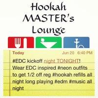 Foto tirada no(a) Hookah MASTER's Lounge ™ por Garrett Y. em 6/21/2013