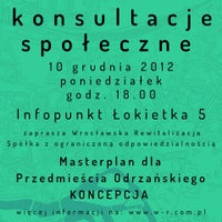 Photo taken at Infopunkt Nadodrze by Wroclaw Official on 12/5/2012