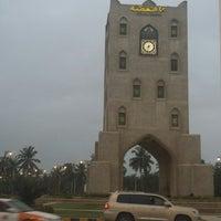 Photo taken at Burj Al Nahaada ( Clock Tower ) by Wandering F. on 8/19/2014
