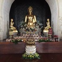 Photo taken at Vihara Buddha Sakyamuni by Andrew K. on 12/20/2015