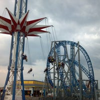Photo taken at Iron Shark Rollercoaster by Paul B. on 11/23/2012