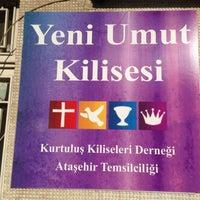 Photo taken at Yeni Umut Kurtuluş kilisesi by Soner T. on 4/21/2013