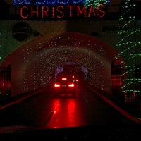 Photo taken at Charlotte Motor Speedway Christmas Light Show by Derrick D. on 12/15/2013